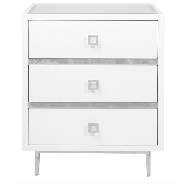 Stylish White And Silver Nightstand Screen Shot 2015 05 07 At 123159 Pm
