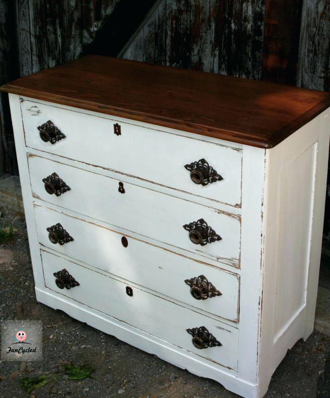 Stylish White Dresser With Brown Top Brown And White Dresser Sbproco