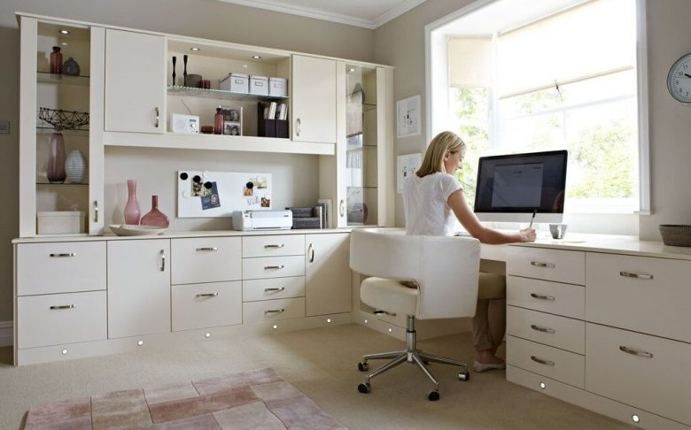 Stylish White Home Office Furniture Collections Furniture Clean Look For Modern Home Office Desks With Large Window