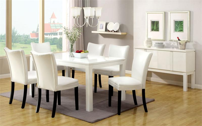 Stylish White Kitchen Dining Chairs How To Build A White Round Kitchen Table Set Furniture Depot