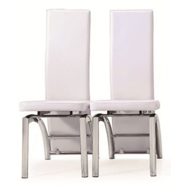 Stylish White Leather High Back Dining Chairs Dining Room The Chairs Marvellous High Back Inside White Ideas Top