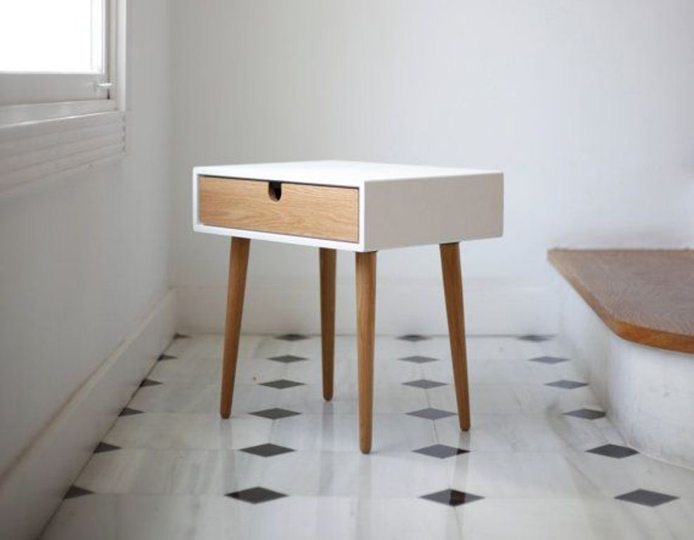 Stylish White Nightstand With Wood Top Modern White Nightstand With Drawers Modern White Nightstand