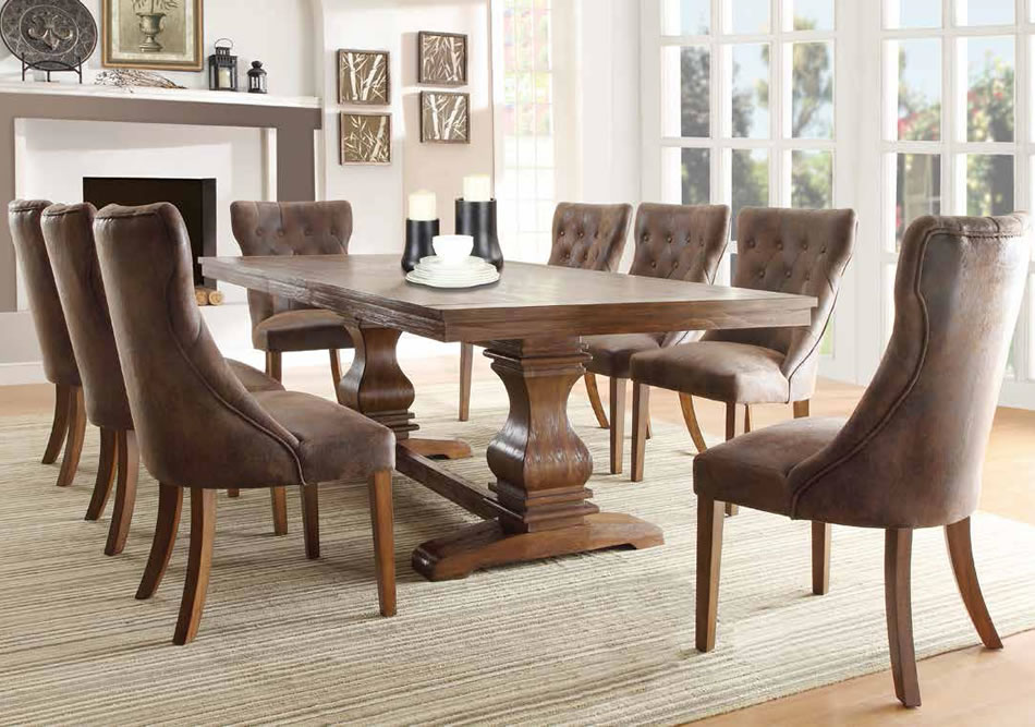Stylish Wood And Fabric Dining Room Chairs Small Dining Room Glossy Wooden Formal Dining Room Sets Vintage