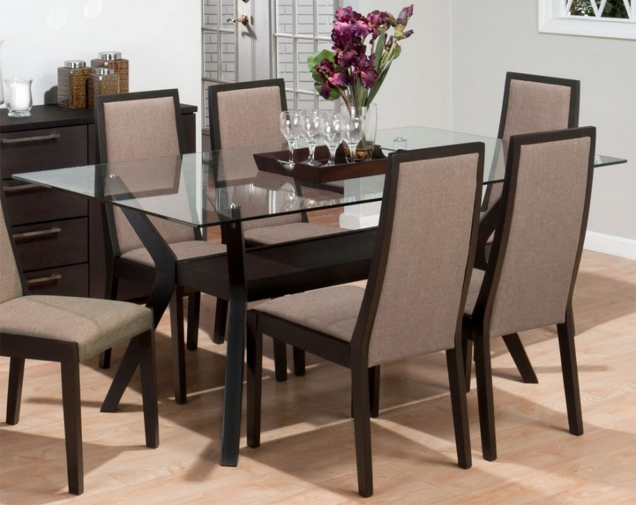 Stylish Wood And Glass Dining Table Designs Dining Room Modern Dining Room Design With Glass Dining Table Top