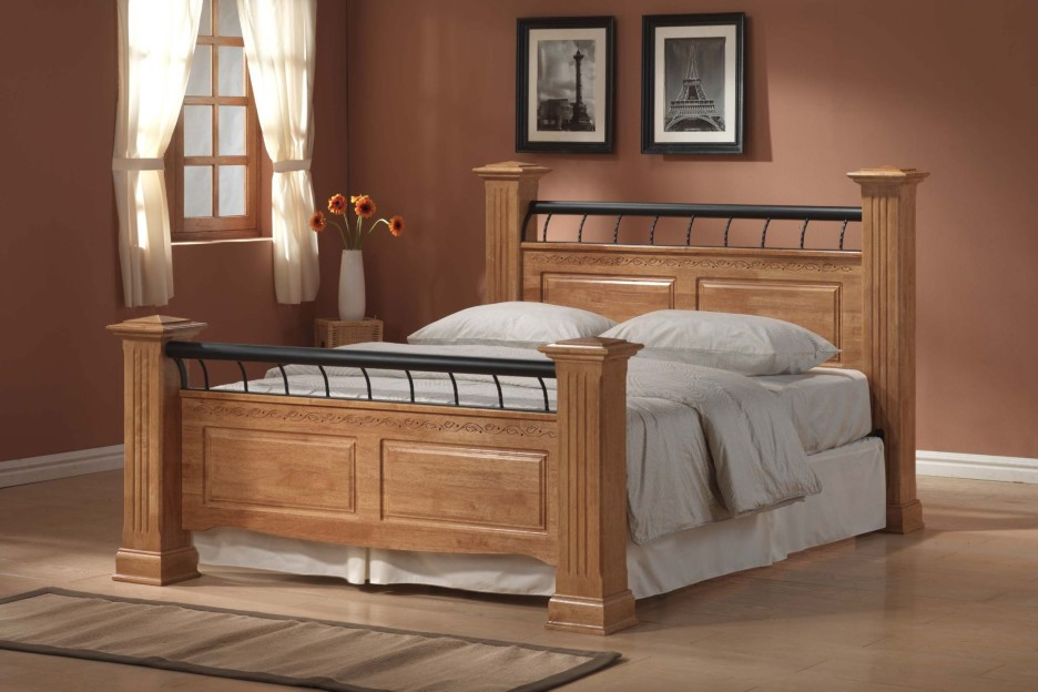 Stylish Wood Bed Headboards And Footboards Make King Size Bed Headboard And Footboard Table Modern King