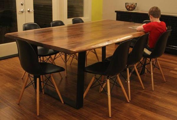 Stylish Wood Modern Dining Table Contemporary Rust Dining Table Contemporary Dining Room