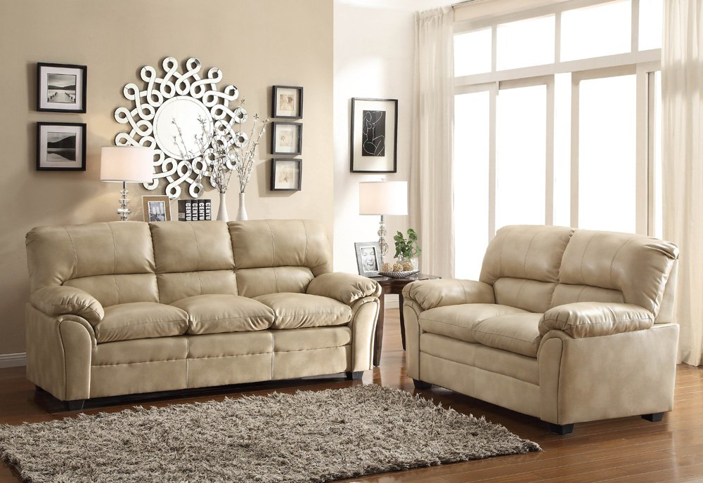 Unique 2 Piece Living Room Furniture Homelegance Talon 2 Piece Living Room Set In Taupe Leather