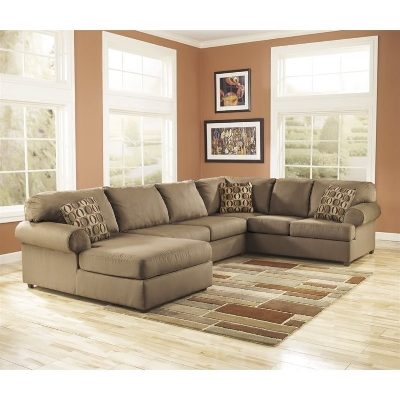 Unique 3 Piece Sectional Couch Ashley Furniture Cowan 3 Piece Sectional Sofa In Mocha 30703 16