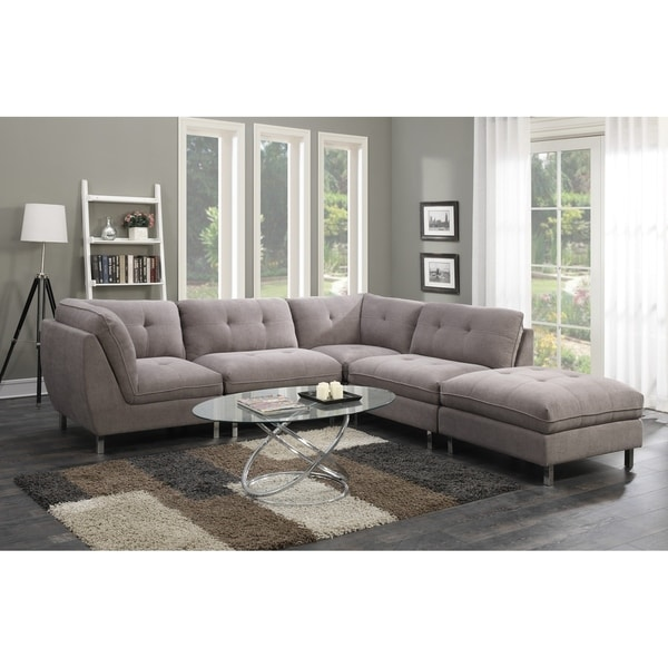 Unique 5 Piece Sectional Couch Emerald Home Castello Grey Woodsteel 5 Piece Sectional Sofa Set