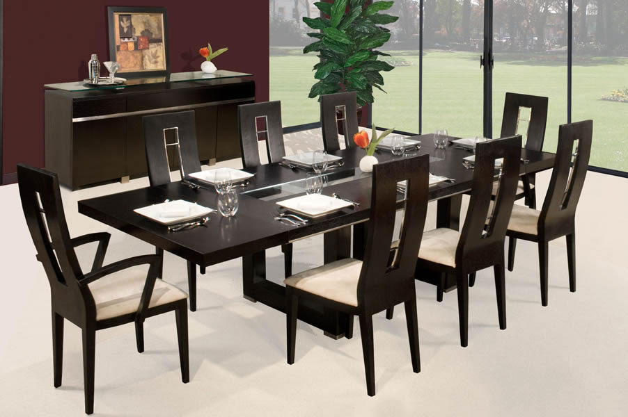 Unique Black Dining Table And Chairs Set Amazing Black Dining Table With Chair Sets For Modern Style Dining