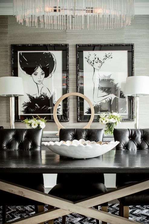 Unique Black Tufted Dining Room Chairs Black Leather Dining Chairs Contemporary Dining Room Karen B