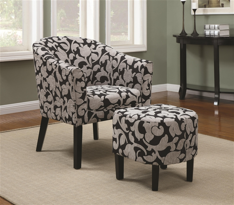 Unique Black White Accent Chair Black And White Floral Fabric Accent Chair Coaster 902062