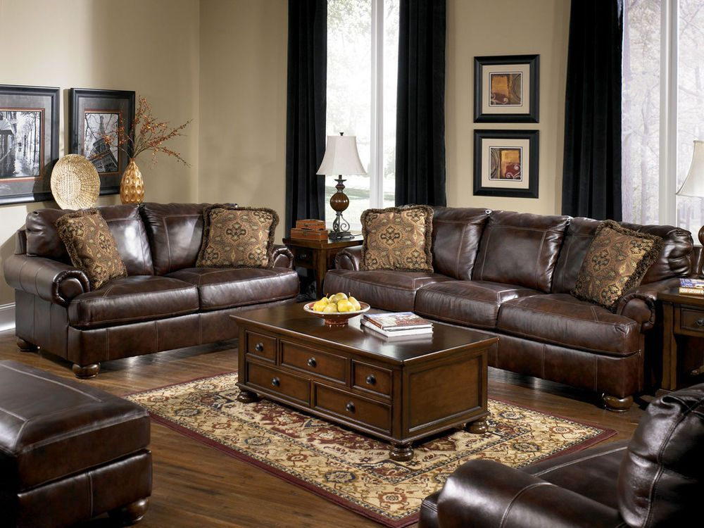 Unique Brown Leather Sofa And Loveseat Set Prestige Traditional Genuine Brown Leather Large Sofa Couch Set