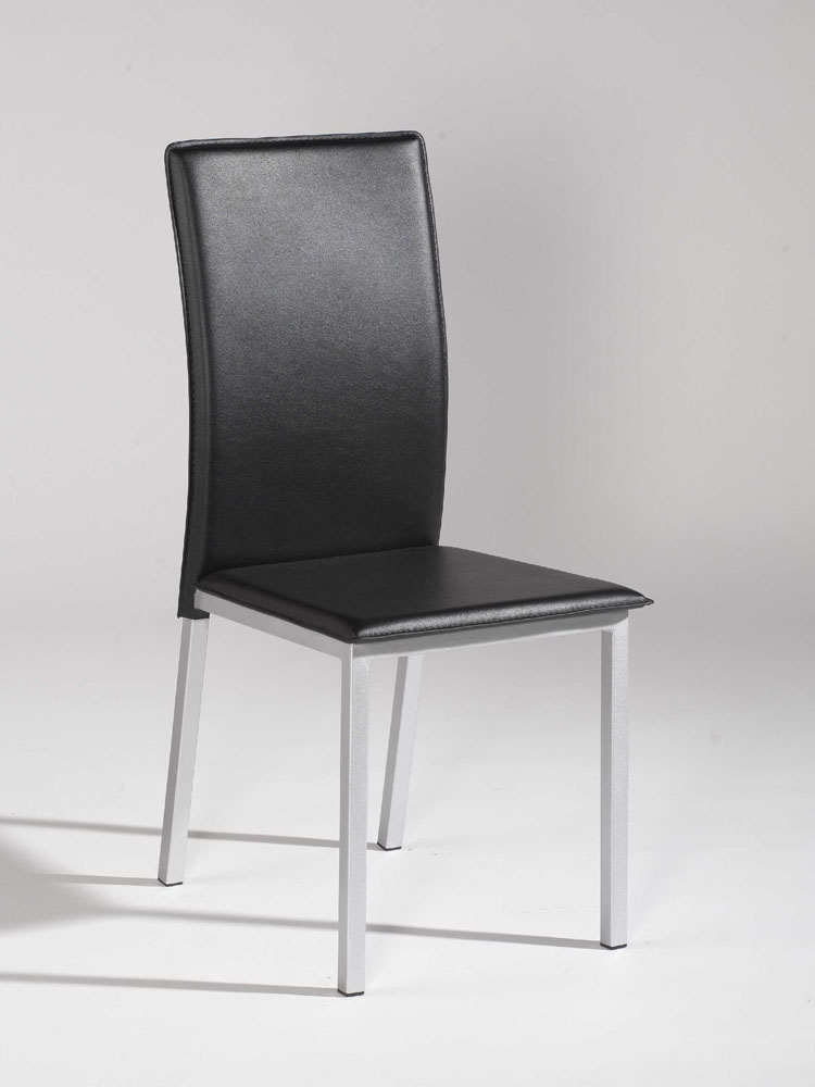 Unique Contemporary Leather Dining Chairs Simple Design Black Leather Dining Chair With Silver Legs Dallas