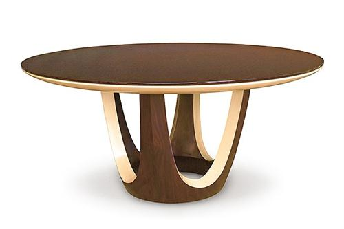 Unique Contemporary Round Dining Table Calypso Round Dining Table From Dakota Jackson