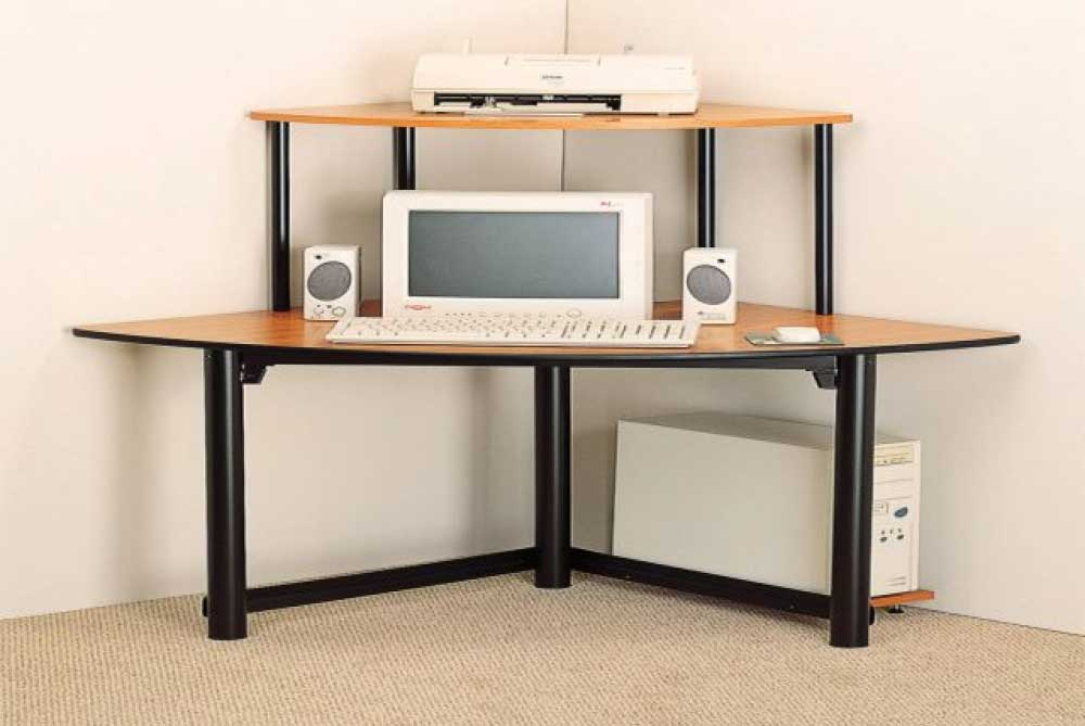 Unique Corner Desktop Computer Desk Terrific Corner Computer Desks For Small Spaces 77 For Your Home