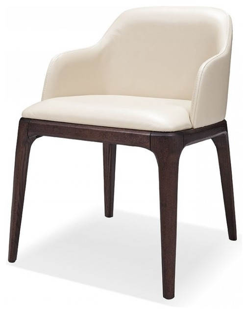 Unique Cream Dining Chairs Modrest Margot Modern Cream Eco Leather Dining Chair Set Of 2