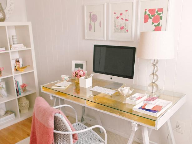 Unique Create A Desk How To Create A Stylish And Organized Desk Space Hgtvs