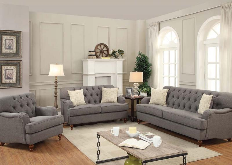 Unique Dark Grey Sofa Set Alianza Acme Dark Grey Sofa Collection