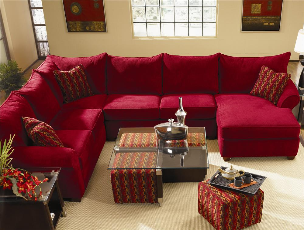 Unique Fabric Sectional With Chaise Spacious Sectional With Chaise Lounge Klaussner Wolf And