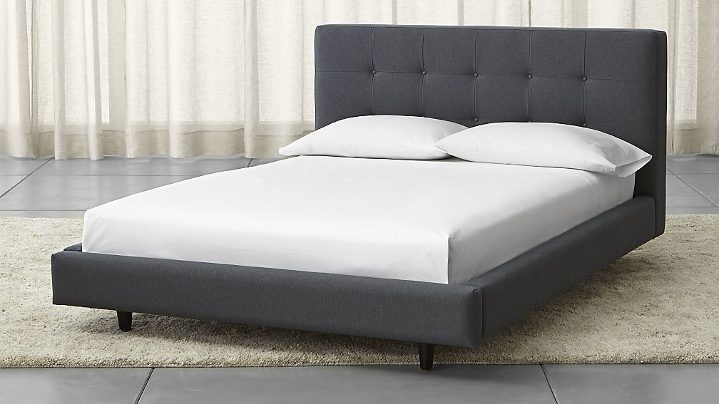 Unique Full Bed And Frame Tate Upholstered Full Bed Crate And Barrel