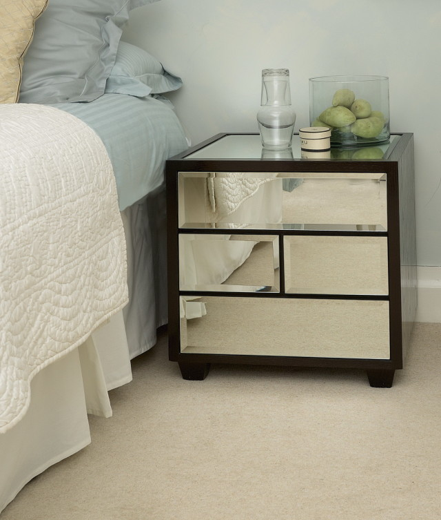 Unique Glass Bedside Table Ikea Diy Mirror Bedside Table Home Design Ideas