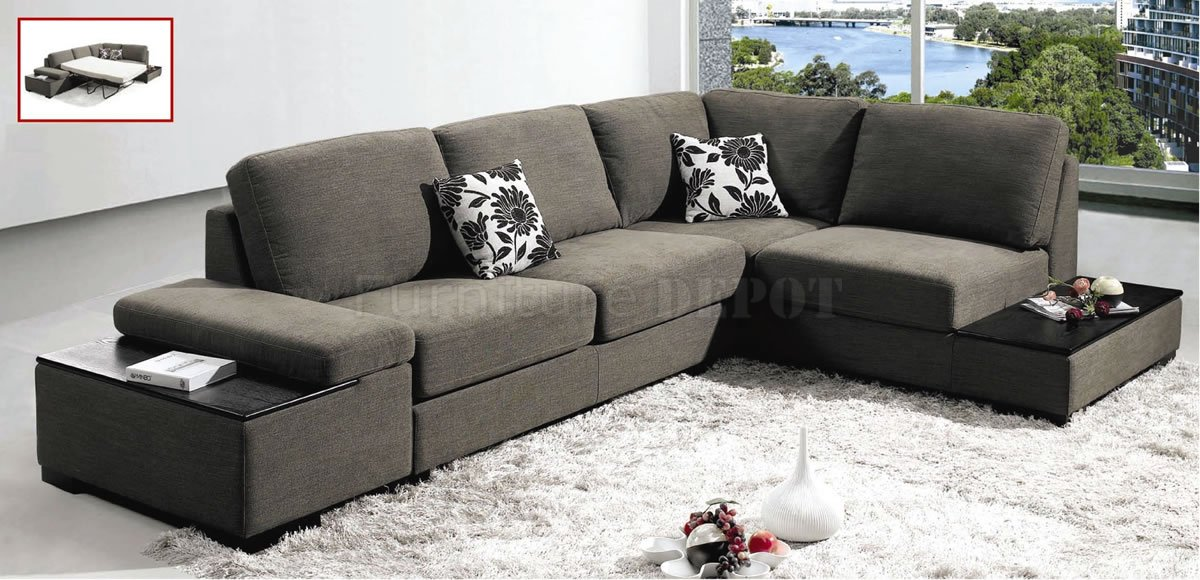 Unique Gray Microfiber Sectional Sofa Amazing Grey Sectional Sofas With Sofa Beds Design Chic