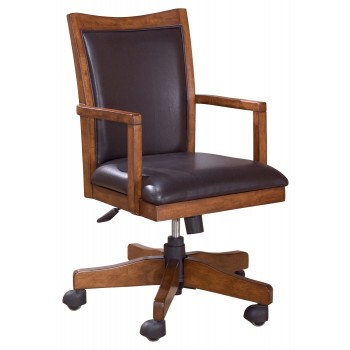 Unique Home Office Desk Chairs Cross Island Medium Brown Home Office Swivel Desk Chair H319