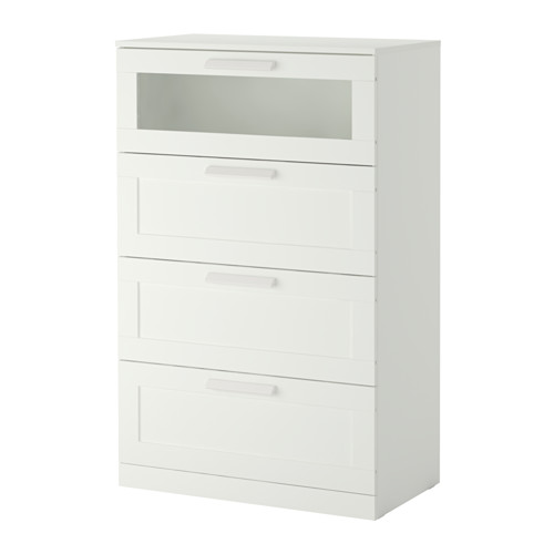 Unique Ikea 5 Drawer Chest Of Drawers Brimnes 4 Drawer Dresser Whitefrosted Glass Ikea