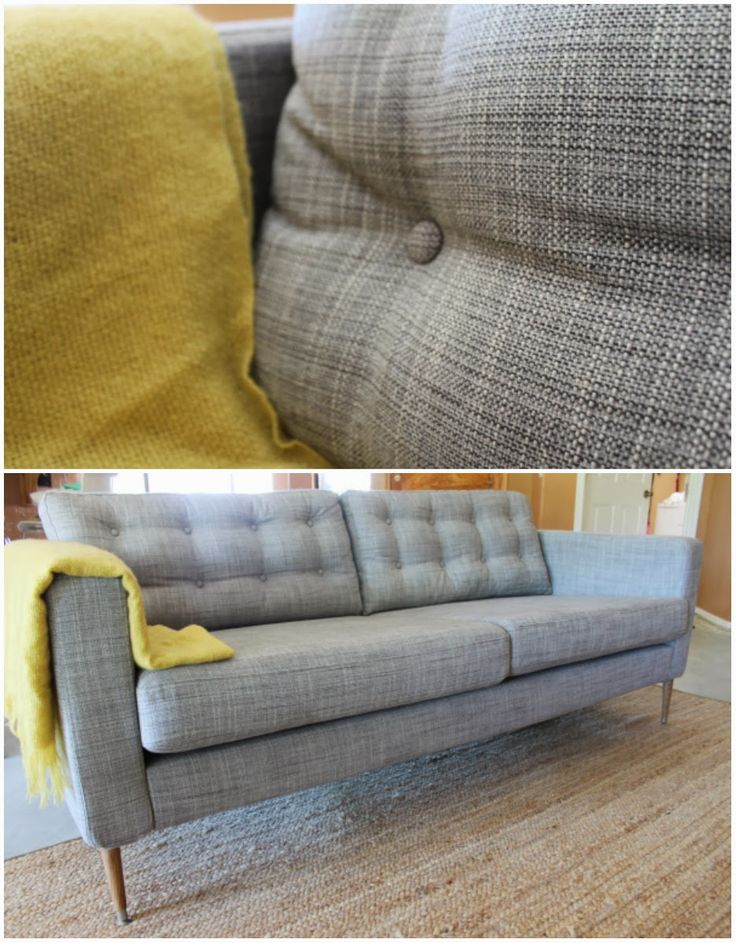 Unique Ikea Mid Century Couch Ikea Hack The Isunda Gray Karlstad With Mid Century Legs And