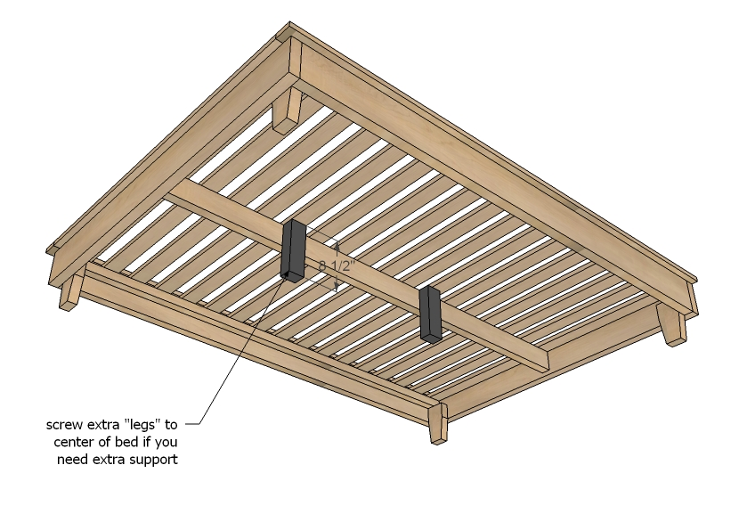 Great King Size Bed With Slats Diy Platform Bed Plans Diywithrick