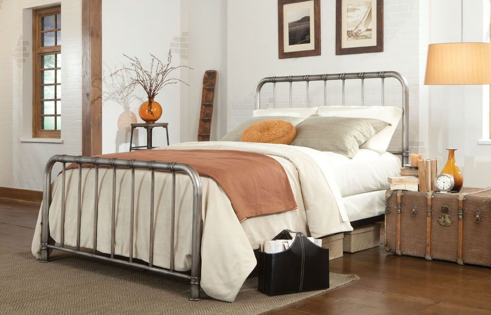 Unique King Size Metal Bed Base Industrial Iron Bed Frames King Vineyard King Bed Iron Bed