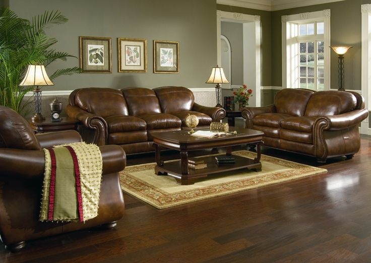 Unique Leather And Wood Living Room Sets Brown Leather Sofa Set For Living Room With Dark Hardwood Floors