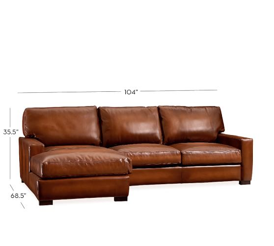 Unique Leather Couch With Chaise Creative Of Leather Sofa With Chaise Turner Square Arm Leather
