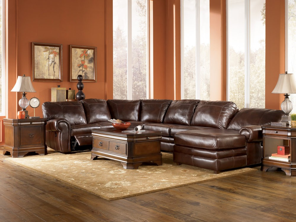 Unique Leather Living Room Sectionals Orange Wall Paint Brown Leather Sectional Sofahome Xmas Home Xmas