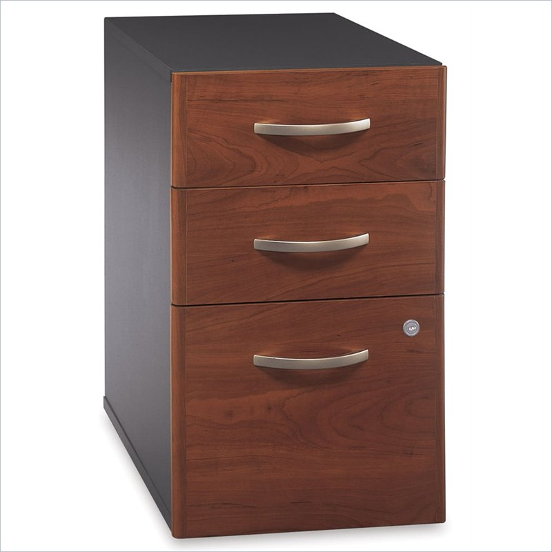 Unique Locking File Cabinet Bush Series C Hansen Cherry Three Drawer File Cabinet Wc24453 Bbf