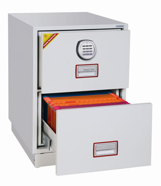 Unique Locking File Drawer Phoenix Fs2252e Firefile Filing Cabinet 2 Drawer With Electronic