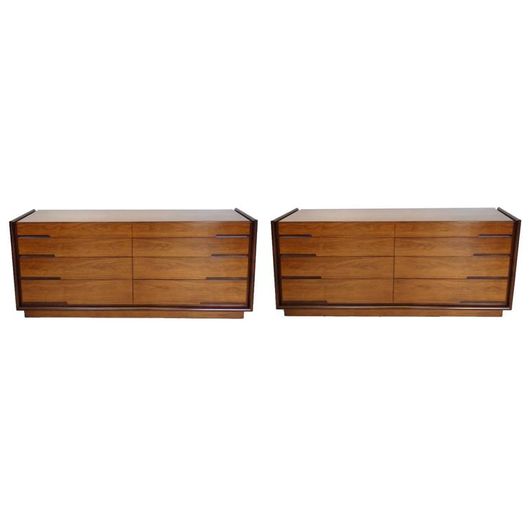 Unique Long And Low Dresser Edmund Spence Long Low Double Dresser At 1stdibs