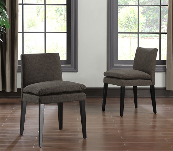 Unique Low Back Dining Chairs Chocolate Brown Low Back Dining Chair Home Interiors