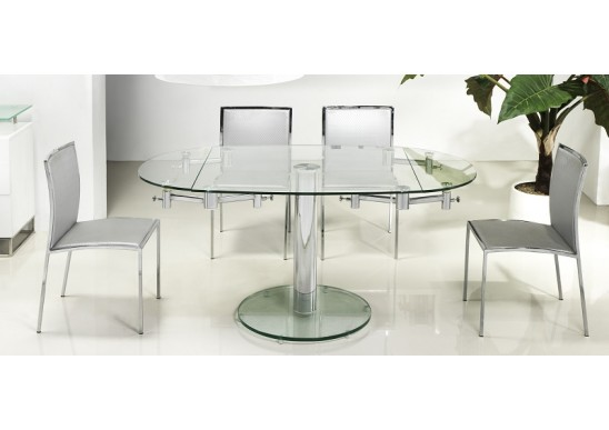 Unique Modern Round Extendable Dining Table Vida Extendable Modern Round Dining Table