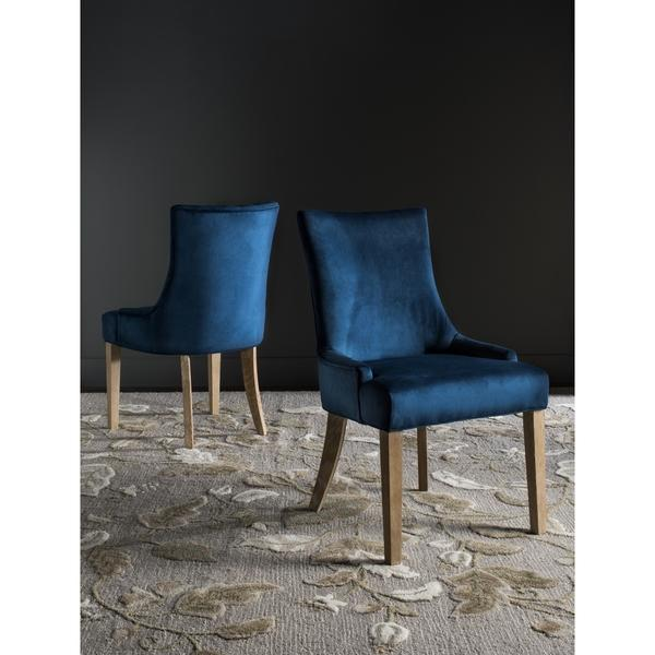 Unique Navy Blue Leather Dining Chairs English Arm Dining Chair