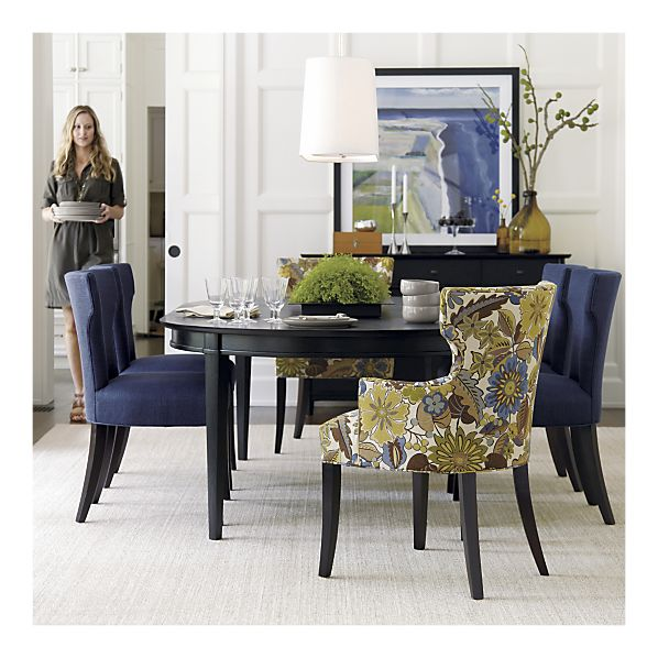 Unique Navy Blue Leather Dining Chairs Ode To The Crate Barrel Sasha Chair Twoinspiredesign