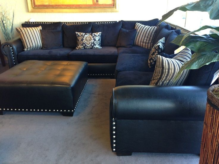 Unique Navy Blue Leather Sectional Sofa Navy Blue Leather Sectional Sofa Home Furniture Design Ideas