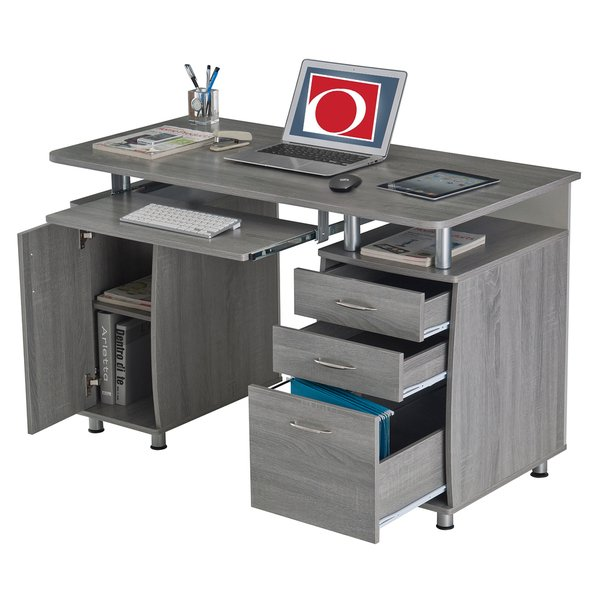 Unique Office Desk With File Drawers Shop Modern Designs Grey Mdf Multifunctional Office Desk With File