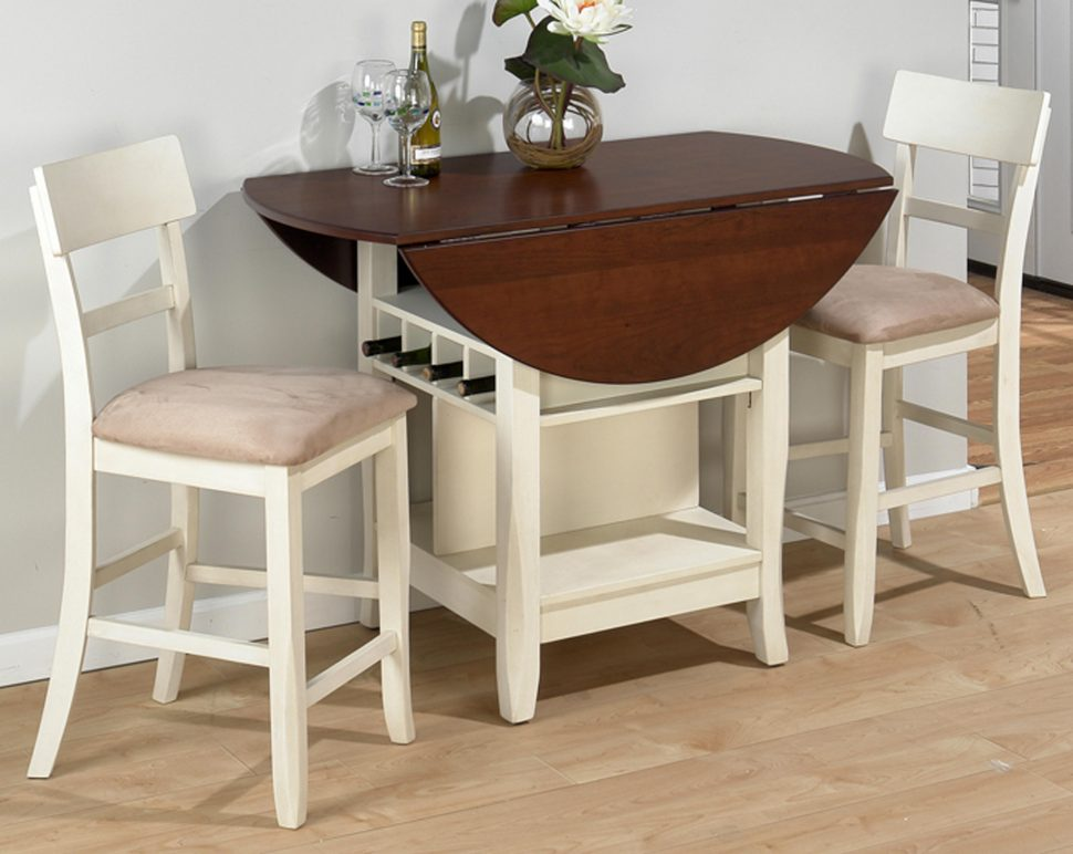 Unique Round Solid Wood Dining Table Kitchen Large Dining Room Table Drop Leaf Table Solid Wood