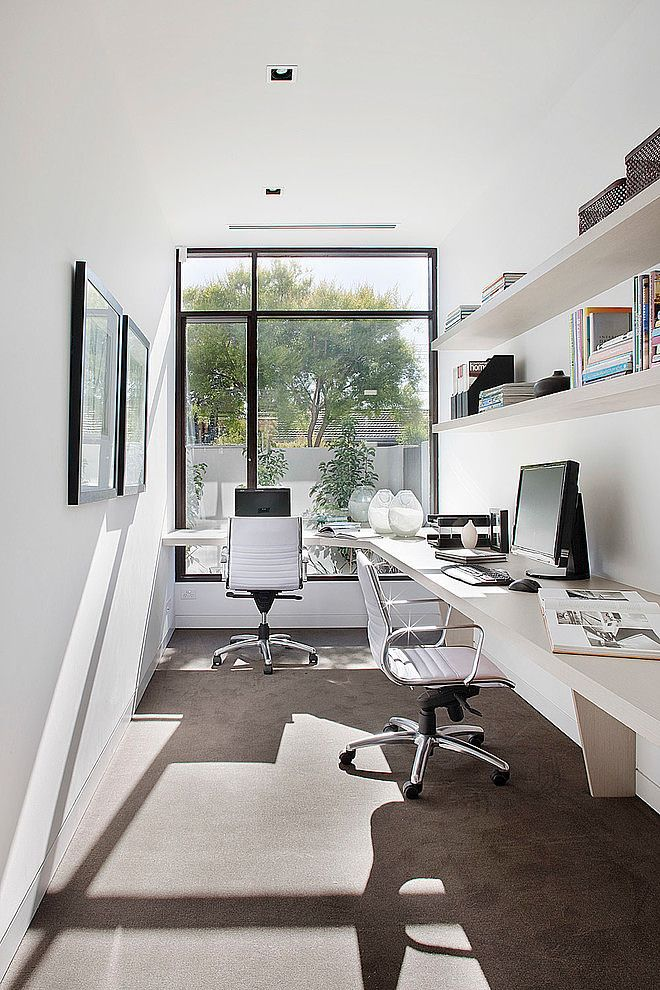 Unique Skinny Office Desk Best 25 Small Office Ideas On Pinterest Small Office Spaces