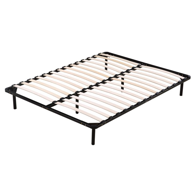 Unique Slatted Bed Base Queen Size Queen Size Wooden Slatted Metal Bed Base In Black Buy Queen Size