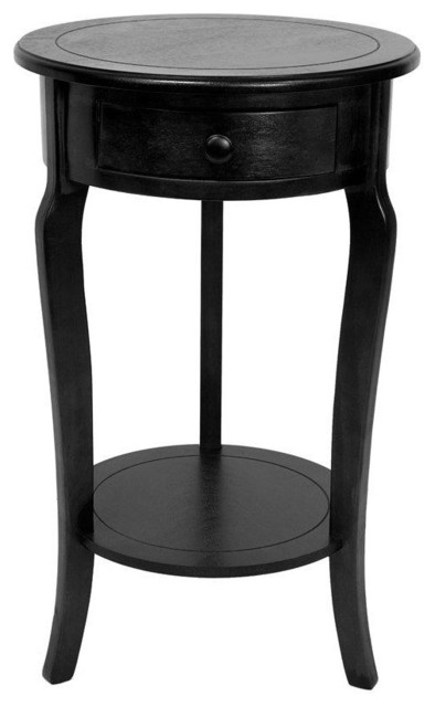 Unique Small Black Night Table Marvellous Black Round Nightstand Marlborough Round Bedside Table
