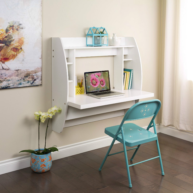Unique Small Desk With Storage Ten Space Saving Desks That Work Great In Small Living Spaces