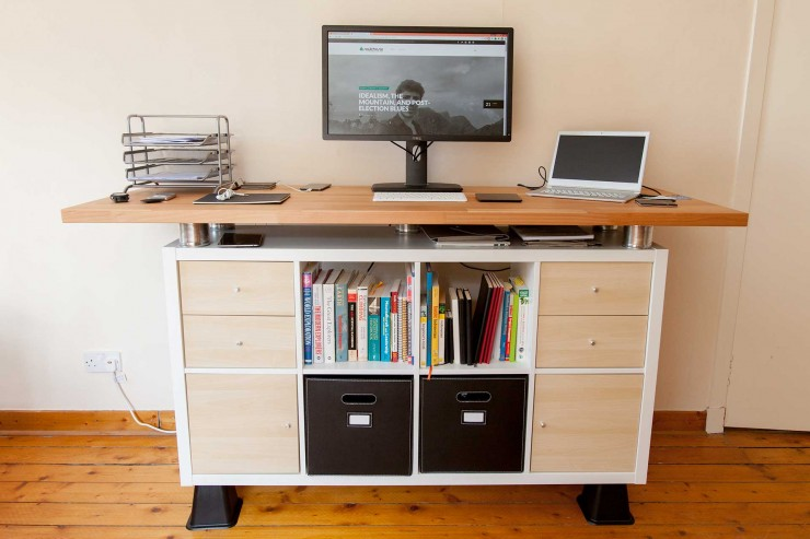Unique Standing Desk Hack My Awesome Standing Desk Ikea Hack Soulchaser